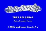 Luis Miguel - Tres Palabras (Karaoke)