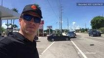 Reed Timmer talks to residents evacuating Key Largo
