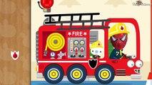 Un et un à un un à et construire voiture des voitures dessin animé feu pompier des jeux policier homme araignée un camion Police |