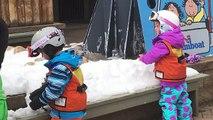 Et première enfants parc populaire ski neige temps équipe Snowboard lana3lw