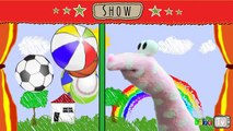 Balle chanson les couleurs fantoche et balle apprentissage pour enfants enfants bébé les tout-petits préscolaire