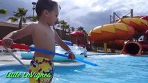 FAMILY FUN TRIP + HUGE Water Slides for kids Splash Pad Wet Water Park! ~ Little LaVignes