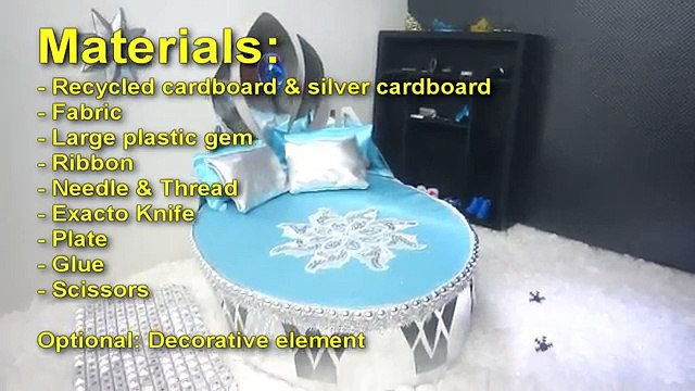 How to make a bed doll bed for Anna from the Frozen - Recycling - Doll Crafts
