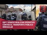 Enfrentamiento entre mototaxistas y policías en Xochimilco