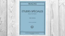 Download PDF Mazas Jacques Fereol Etudes Speciales, Op. 36, Book 1 Violin solo by Ivan Galamain International FREE