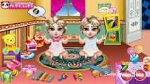 Bébé soins pour Jeu des jeux filles enfants nouveau née Princesse jumeaux vidéo elsa