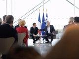 Discours du Président MACRON et du Premier Ministre Alexis Tsipras à la Fondation Niarchos à Athènes, le vendredi 8 septembre 2017.