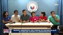 Palasyo, nirerespeto ang pagbawi ng makabayan bloc sa kanilang suporta sa administrasyon