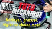 Tuto mécanique moto - nettoyer, graisser et apprendre régler sa chaine