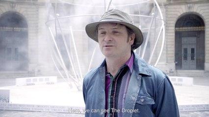 La sculpture monumentale The Droplet