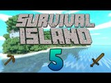 Starting our Strip Mine for Diamonds! - Exploring Caves - (Minecraft Survival Island) - Episode 5