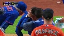 Un joueur de Baseball s'est fracturé le nez par une balle au Texas !