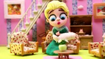 Masha and the Bear Stacking Cups Surprise Egg Play Doh Masha i Medved Stop Motion Cartoons