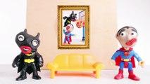 SUPERMAN Slam Dunks on BATMAN _ Play Doh Stop Motion Superhero Basketball Game