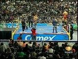 AAA-Sin Limite  2009.07.26  Mexico City  05 Alex Koslov & La Hermandad Extrema vs. El Mesias, Extreme Tiger & Octagon