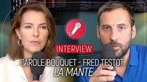 Interview de Carole Bouquet et Fred Testot pour La mante (TF1)
