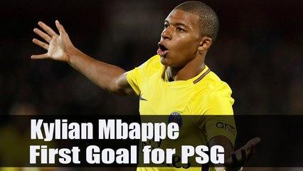Kylian Mbappe First Goal for PSG   Metz - PSG (1-5) 09.09.2017