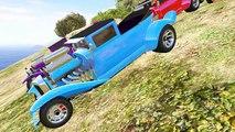 Et des voitures dessin animé couleur les couleurs pour enfants Apprendre foudre course course homme araignée avec Mcqueen chi