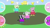 Peppa Pig and Sports Day - Obstacle Race, Long Jump, Bicycle Race, Tug of War and More Games