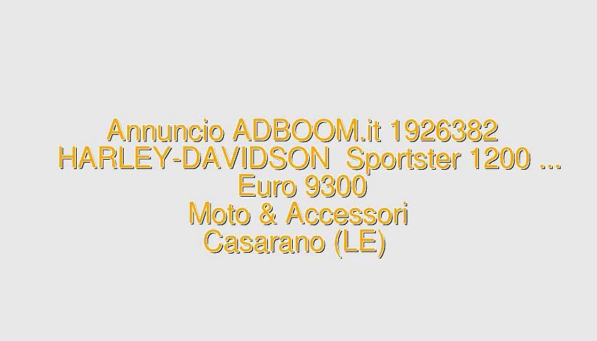 HARLEY-DAVIDSON  Sportster 1200 …