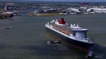 Saint-Nazaire: Le Queen-Mary 2 vu du ciel - Nantes Bretagne Télé