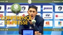 Conférence de presse Havre AC - US Orléans (1-1) : Oswald TANCHOT (HAC) - Didier OLLE-NICOLLE (USO) - 2017/2018