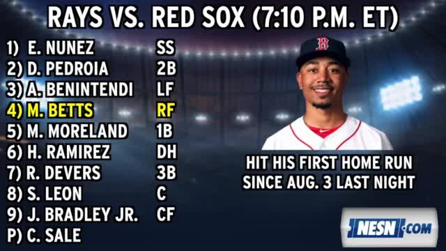 Red Sox Lineup: Chris Sale Take The Mound For The Sox