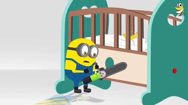 Minions Banana Baby Crib Funny Cartoon - Minions Mini Movies 2016 [HD]