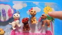 Bébé bouteille berceau chien rêve en buvant Nouveau chiots chiot examen jouet déballage Barbie