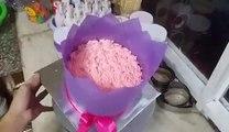 bánh kem hình bó hoa tặng khách yêu