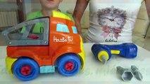 juguetes obra joal excavadora camión grua. kids toys caterpillar construction bulldozer tr