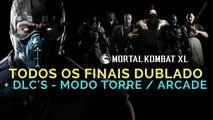 MORTAL KOMBAT XL - todos os finais de todos os personagens + DLC! (Modo Arcade   Torre) DUBLADO