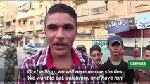 Deir Ezzor Residents Celebrate after Syria Army breaks ISIS Siege
