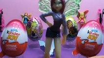Des œufs enfants pour jouets Киндер сюрпризы, unboxing kinder surprise феи клуб винкс, club de jouets w