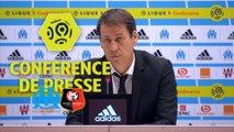 Conférence de presse Olympique de Marseille - Stade Rennais FC (1-3) : Rudi GARCIA (OM) - Christian  GOURCUFF (SRFC) - Ligue 1 Conforama / 2017-18