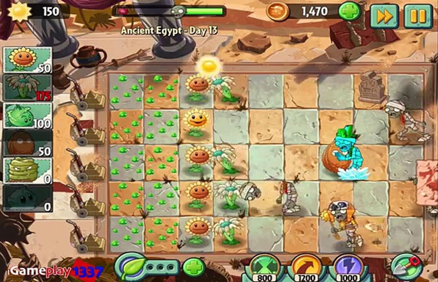 Растения против зомби 2. древние Египет день Кому день