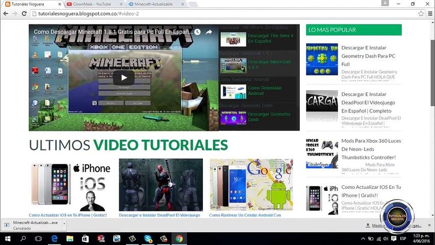 minecraft gratis para pc en español completo
