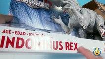 Jurassic World Toys Indominus Rex Dinosaur Action Figure & Play Doh Surprise Dinosaur Eggs