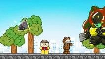 ジュウオウ戦隊アニマルレンジャー!バード編 ブロックおもちゃの冒険バトルゲームアニメ 翼を広げて空中戦!/さっちゃんねる Sacchan Toy anime.