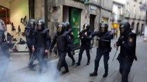 Spanische Polizei vs Antifa