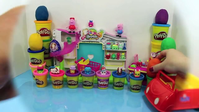 SHOPKINS Play Doh Surprise Eggs, Peppa Pig and George Shopkins trip, Sofia the First Kinder Egg