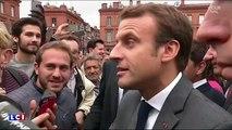 """Emmanuel Macron : un intermittent du spectacle l'interpelle sur les """"fainéants"""" (vidéo)"""
