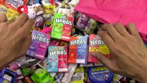 All The NERDS COMBINED - LEARN COLORS with A lot of Nerds Candy