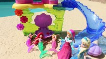 Frozen Little Mermaid Ariel Ultimate Ariel Bath Gift Set Color Change Dolls