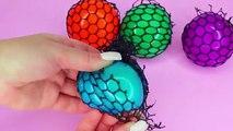 Coupe ouvrir spongieux engrener vase des balles drôle et bizarre couleur en changeant des balles