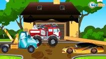 Мультфильм Пожарная машина и Полицейская машина в Городе | Мультики про машинки Сборник 2