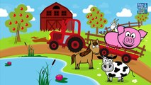 Zwierzęta dla dzieci - Nauka zwierząt na wsi - Odgłosy zwierząt | CzyWieszJak