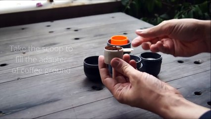 Minipresso GR prepares you instantly