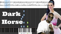 Katy Perry - Dark Horse (feat. Juicy J) Piano Tutorial Easy (Sheet Music+ Cover) with Lyrics - YouTube