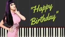 Katy Perry -Happy Birthday Piano Cover With Lyrics -- Synthesia Piano Tutorial - YouTube